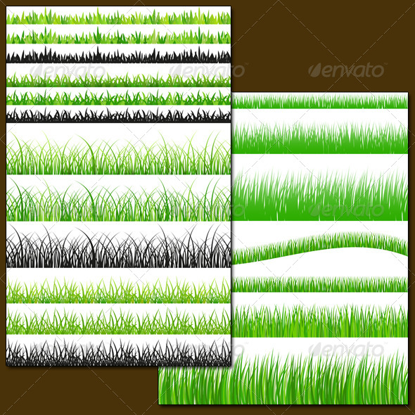 Seamless Grass Set - Patterns Decorative