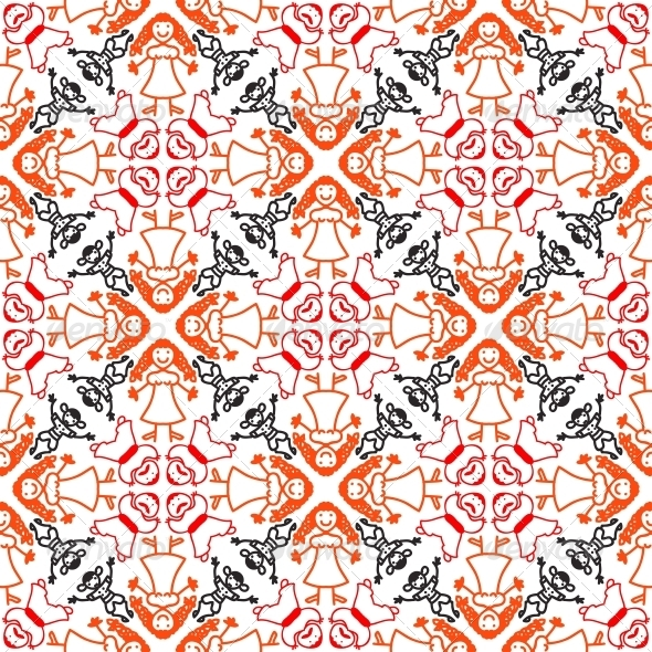 Pattern with the Family - Patterns Decorative
