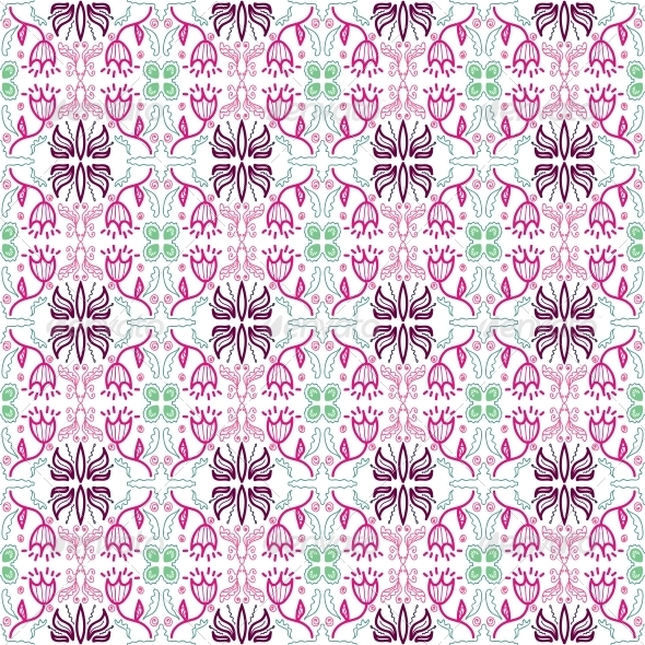 Background with Seamless  - Patterns Decorative