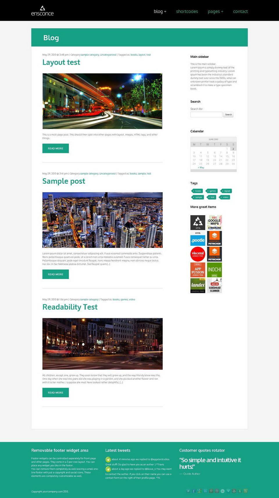 Ensconce - Responsive WordPress Video Landing Page by WebFactory ...