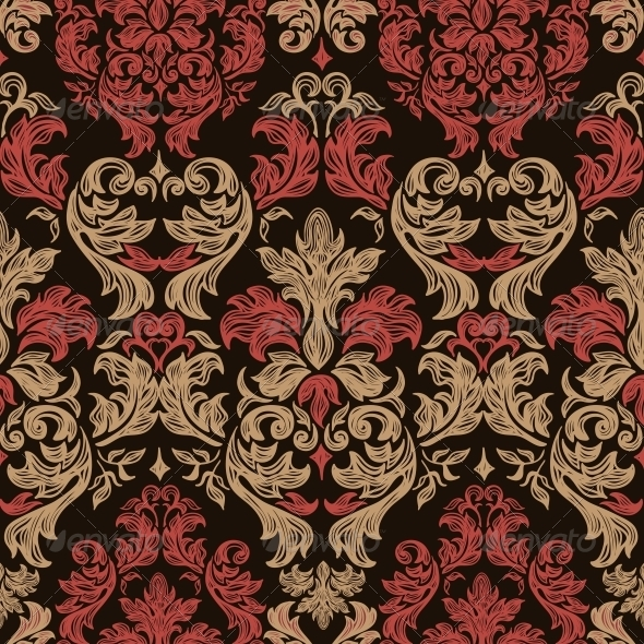 Seamless Retro Barocco Background - Patterns Decorative
