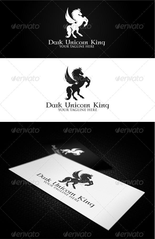 Dark Unicorn King Logo - Crests Logo Templates