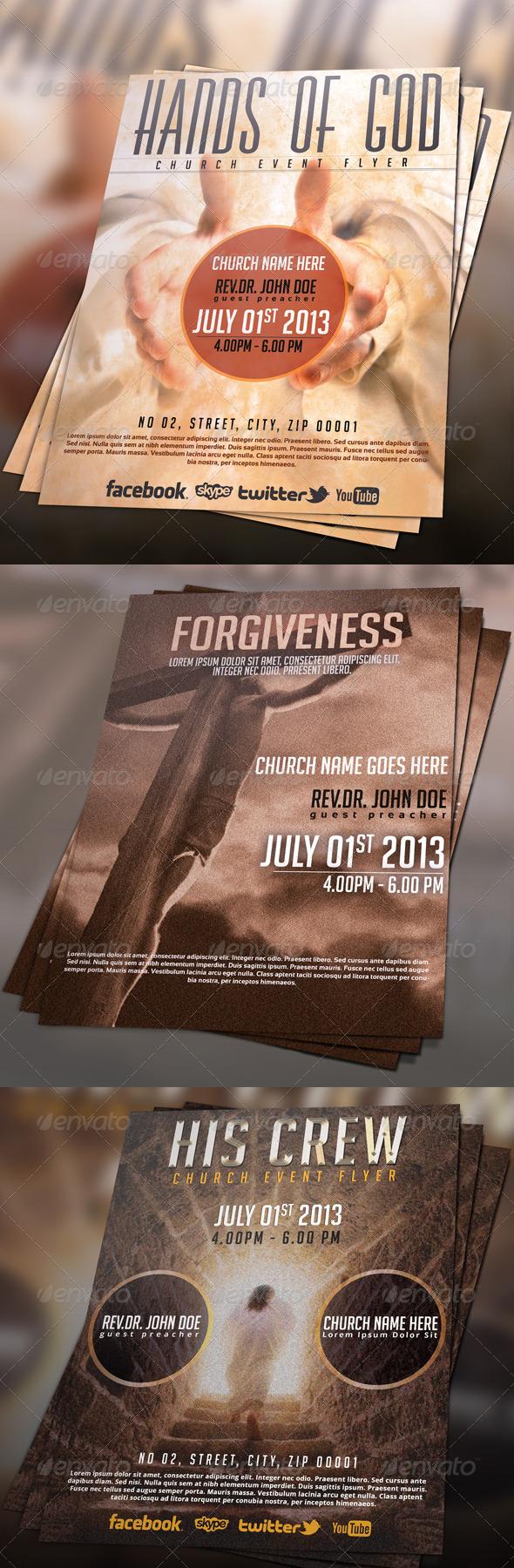 Church Flyer/Poster Bundle 01 - Church Flyers