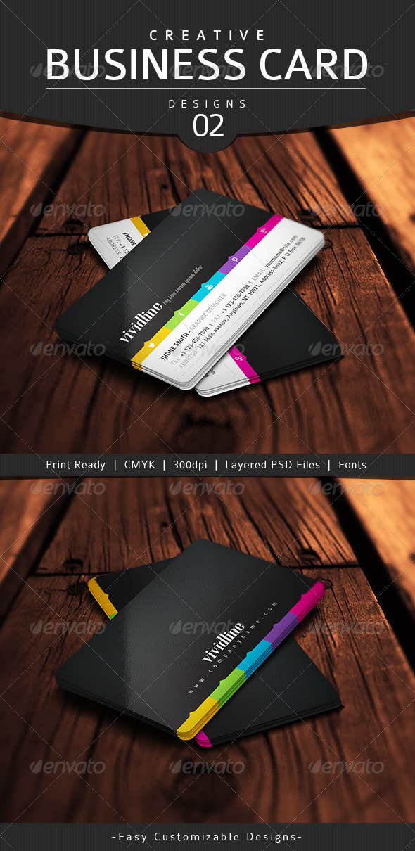 Creative Business Card Design - 02 - Business Cards Print Templates