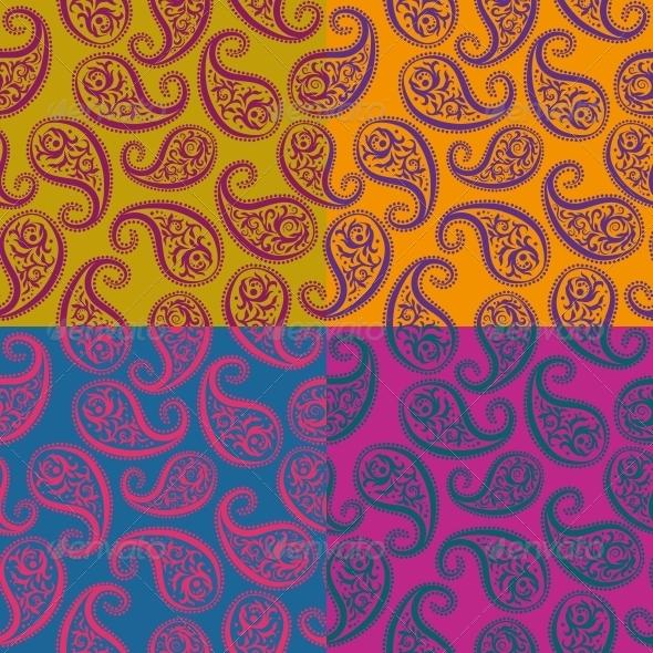 Seamless Vector Pattern Paisley - Patterns Decorative
