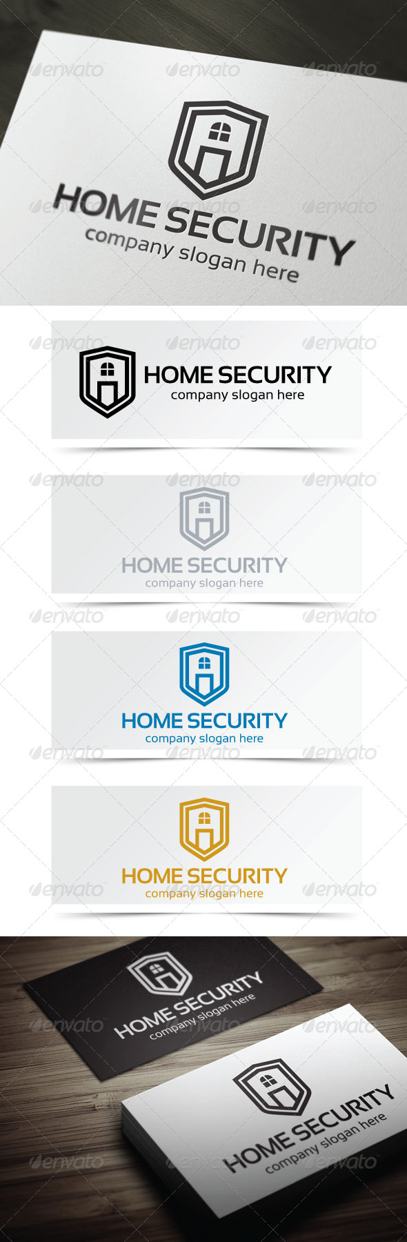 Home Security - Buildings Logo Templates