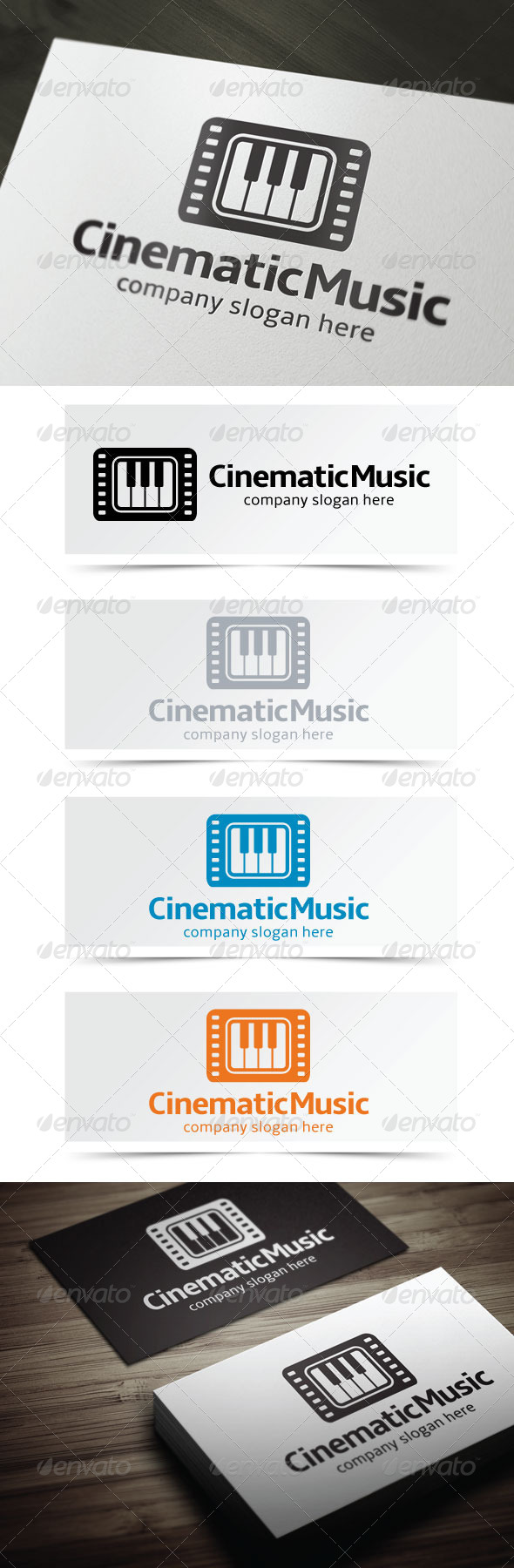 Cinematic Music - Objects Logo Templates