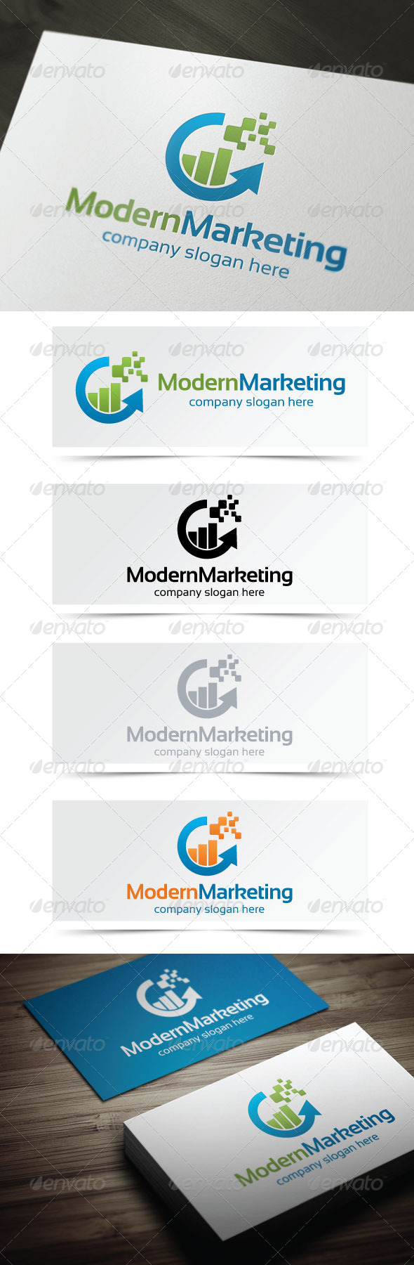 Modern Marketing - Symbols Logo Templates