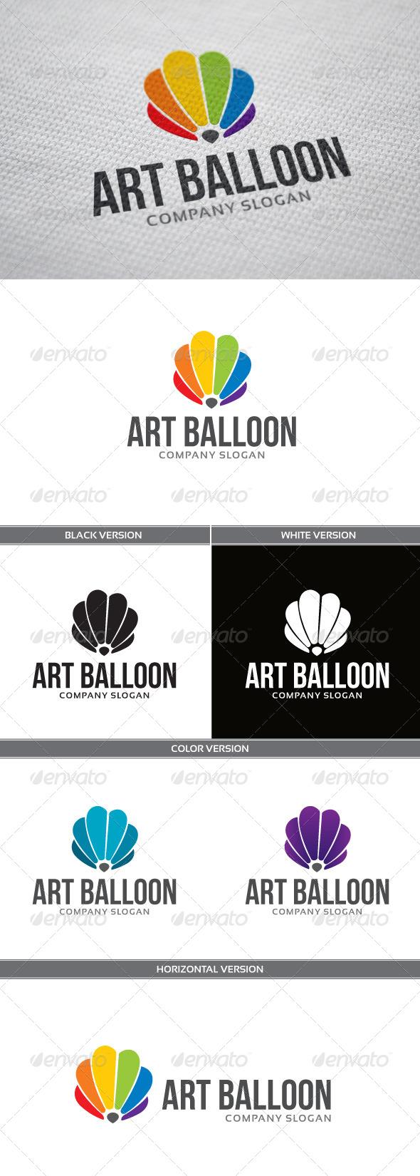 Art Balloon Logo - Objects Logo Templates