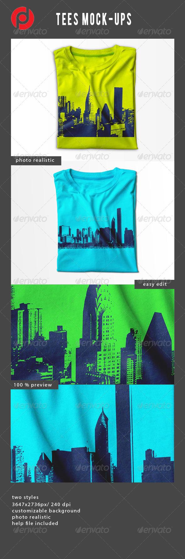 Tees Mock-Ups - T-shirts Apparel