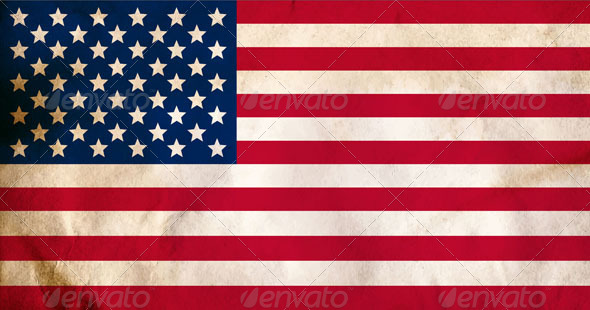 Aged American Flag  - Backgrounds Decorative