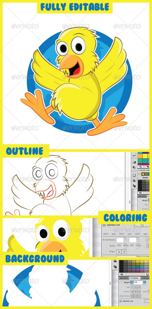 Cartoon Chicks - Characters Vectors