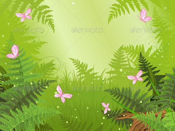 Magic Forest Landscape - Landscapes Nature