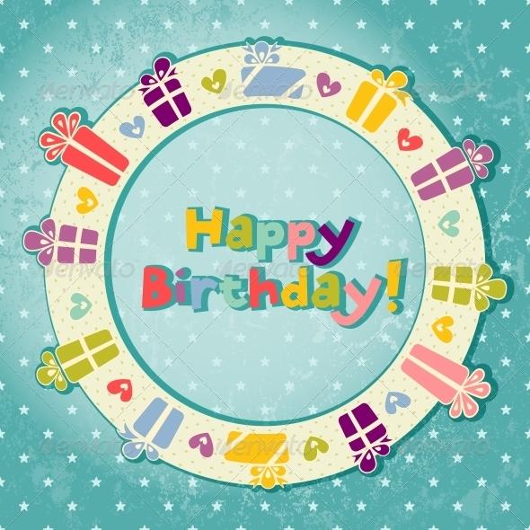 Vector Greeting Card - Birthdays Seasons/Holidays