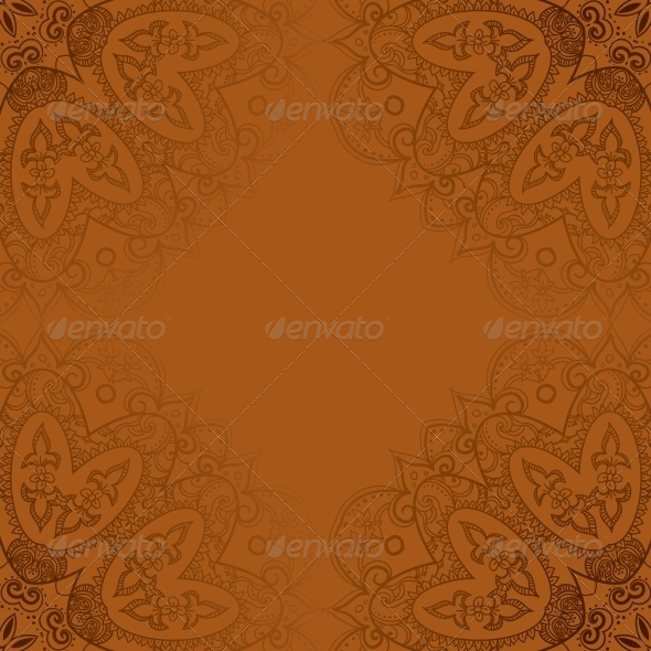 Vintage Template Oriental Circle Background  - Backgrounds Decorative