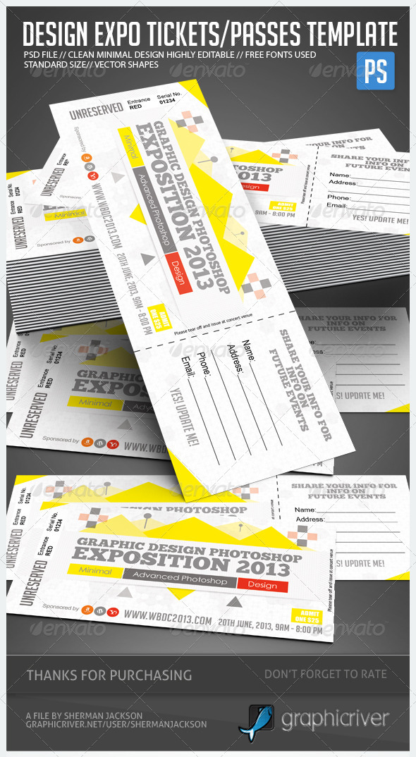 Design Expo Passes Templates V1 - Miscellaneous Print Templates