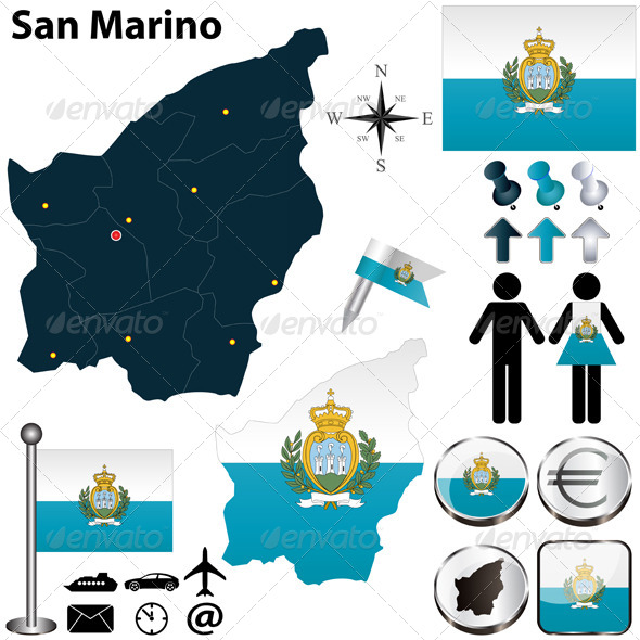 Map of San Marino - Travel Conceptual