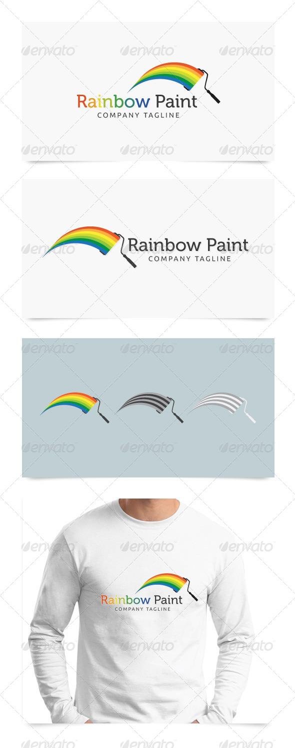 Rainbow Paint - Symbols Logo Templates