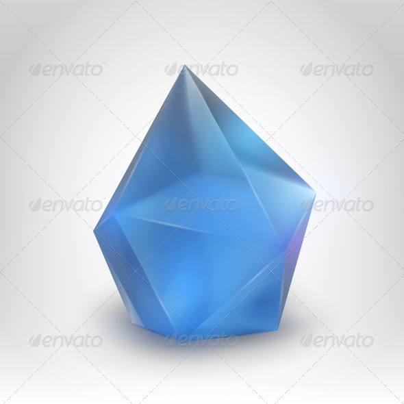 Blue Crystal - Objects Vectors