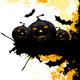 Grungy Halloween Background with Pumpkins and Bats - GraphicRiver Item for Sale