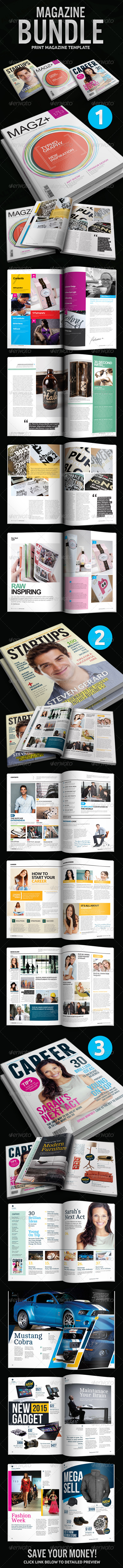 Indesign Magazine Bundle - Magazines Print Templates