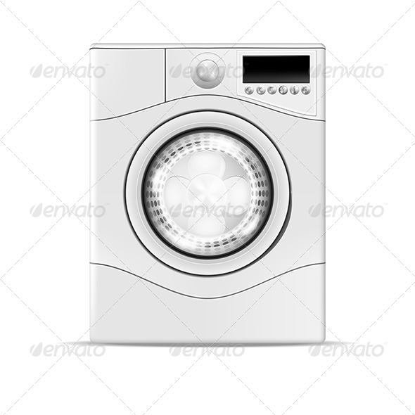 Realistic Washing Machine - Man-made Objects Objects