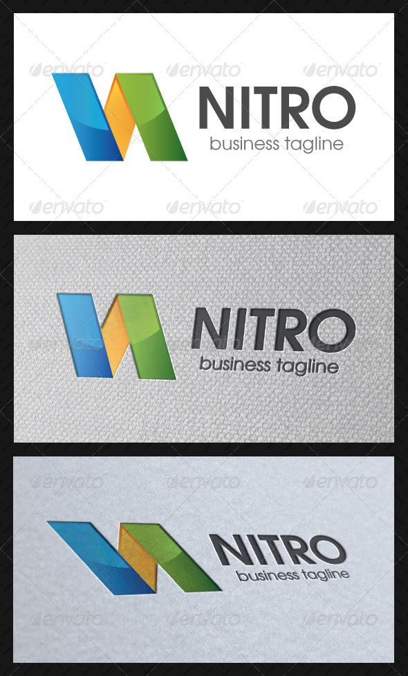 Nitro N Letter Logo Template - Letters Logo Templates