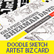 Doodle Sketch Artist Business Card  - GraphicRiver Item for Sale