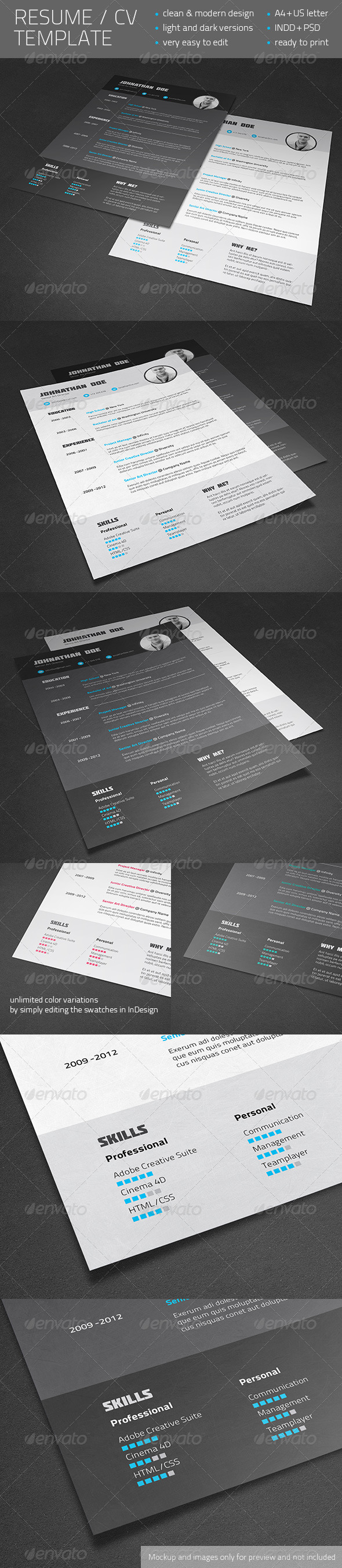 resume cv template resumes stationery