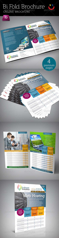A4 Bi fold Internet Brochure - Brochures Print Templates