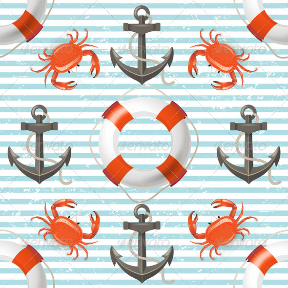 Sea Seamless - Patterns Decorative
