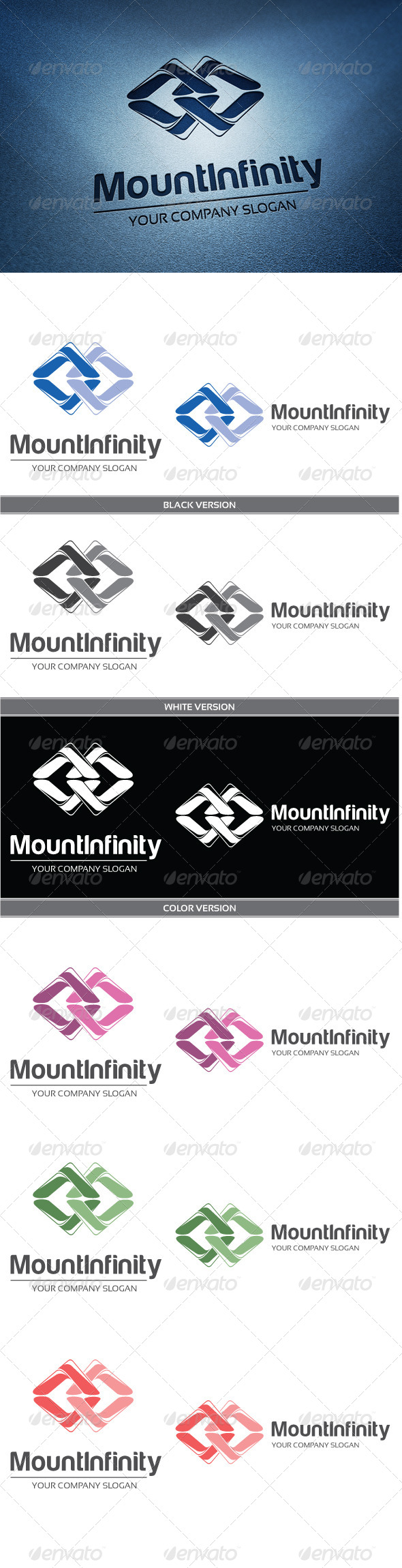 Mount Infinity - Abstract Logo Templates
