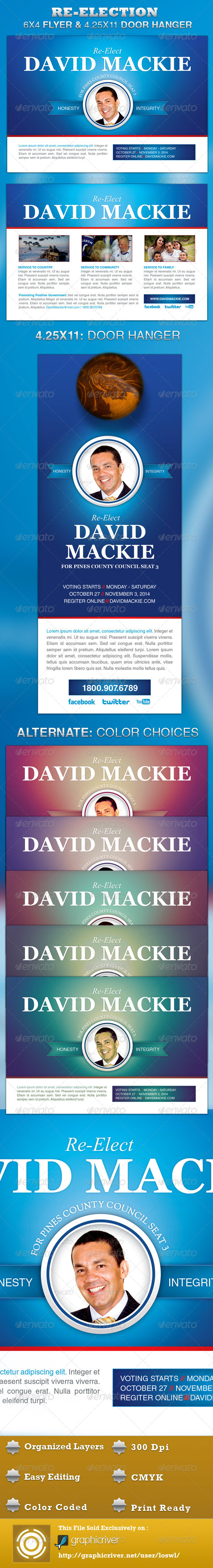 Re Election Flyer And Door Hanger Template By Loswl Graphicriver