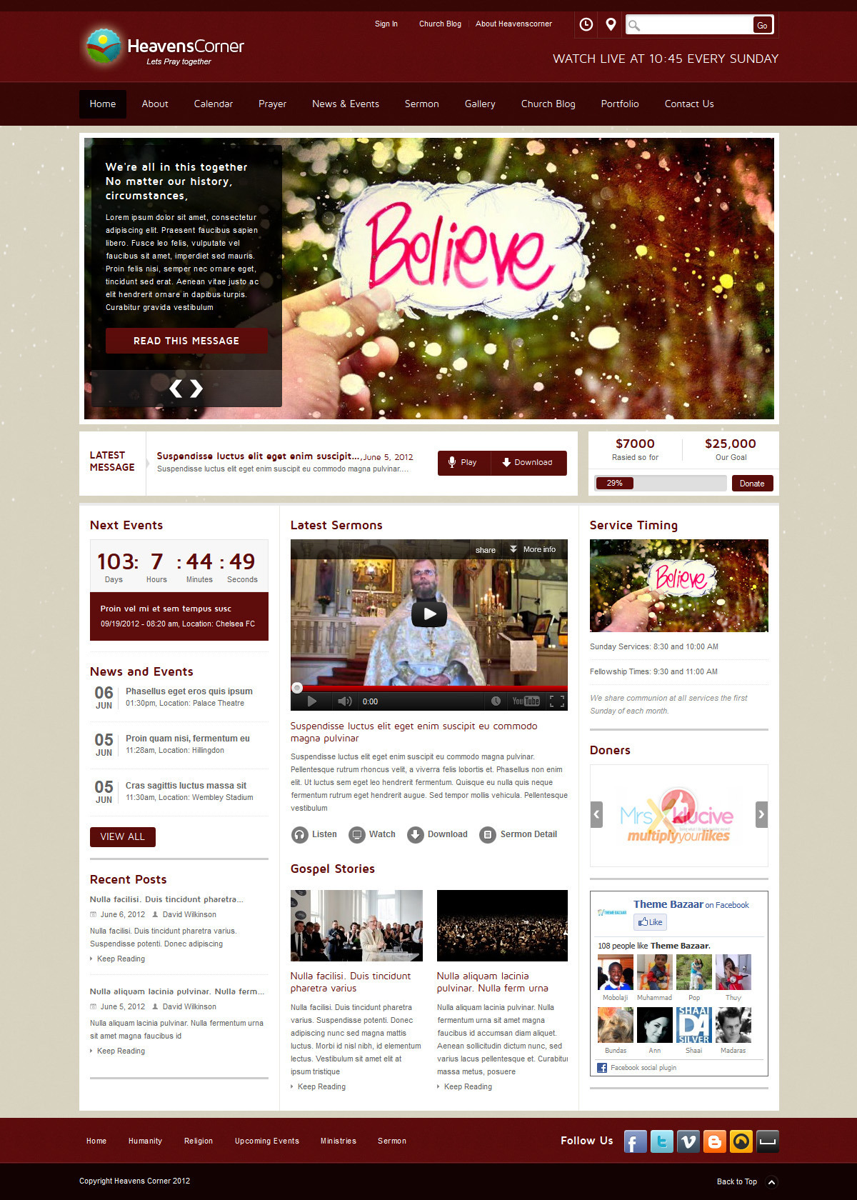 Heaven\'s Corner Church Theme by themebazaar | ThemeForest
