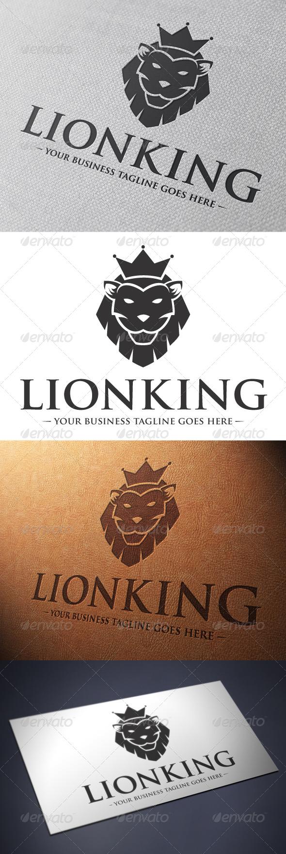 Lion King Logo Template - Animals Logo Templates