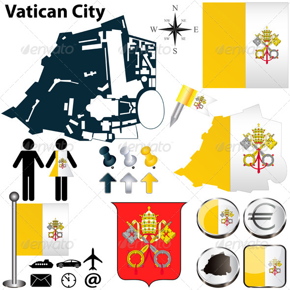 Map of Vatican City - Travel Conceptual