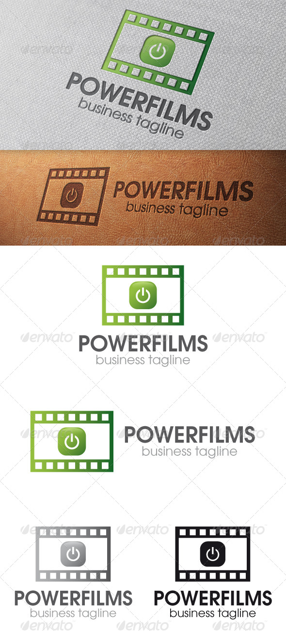 Power Films Logo Template - Objects Logo Templates