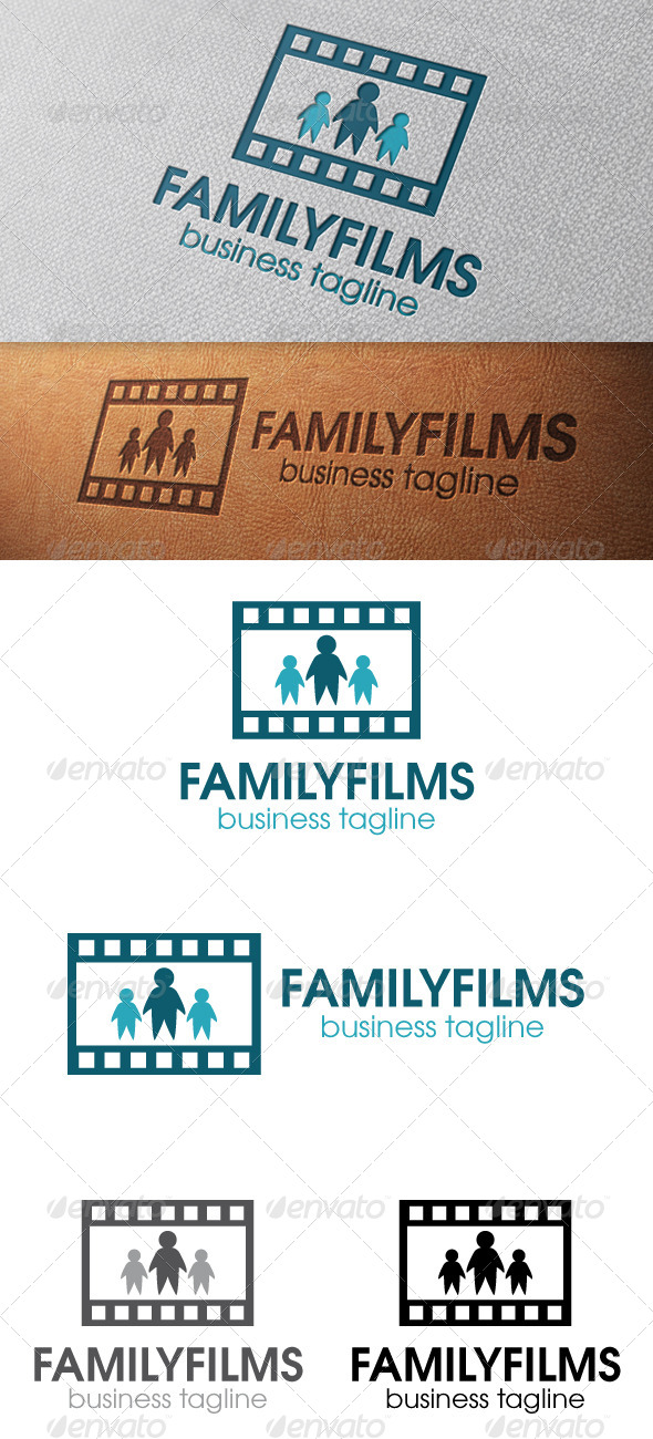 Family Films Logo Template - Humans Logo Templates