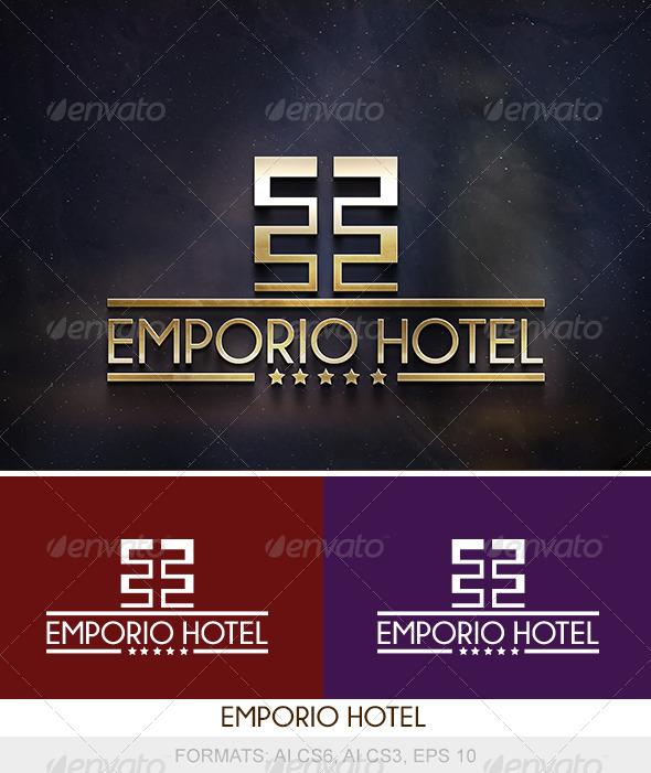 Emporio Hotel Logo - Buildings Logo Templates