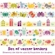 Borders with Baby Icons. - GraphicRiver Item for Sale