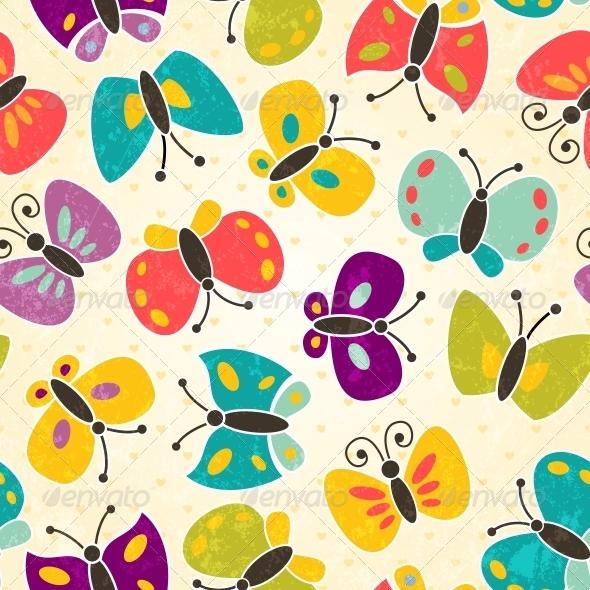 Butterfly Seamless Pattern - Patterns Decorative