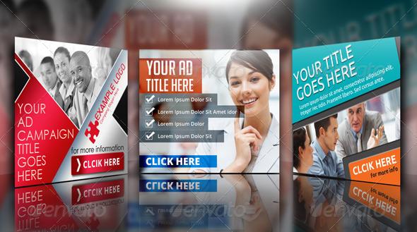 Multipurpose Corporate Banner Bundle - Banners & Ads Web Elements