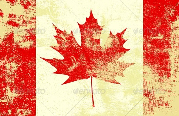 Grunge Canadian Flag - Travel Conceptual