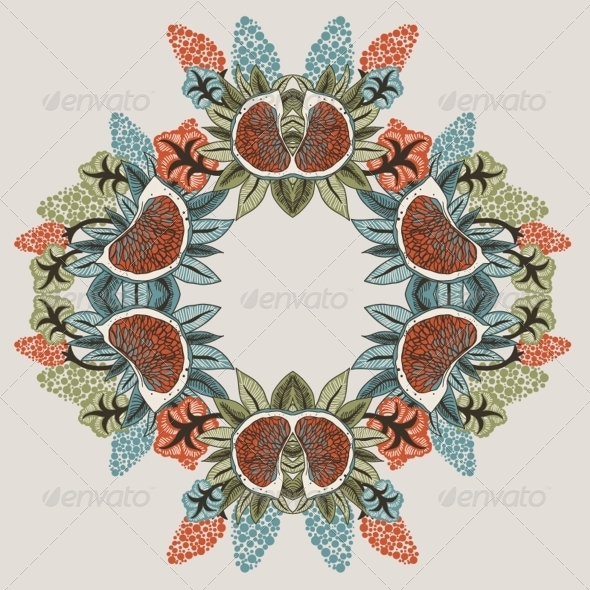 Seamless Flower Pattern in Vector - Flowers & Plants Nature