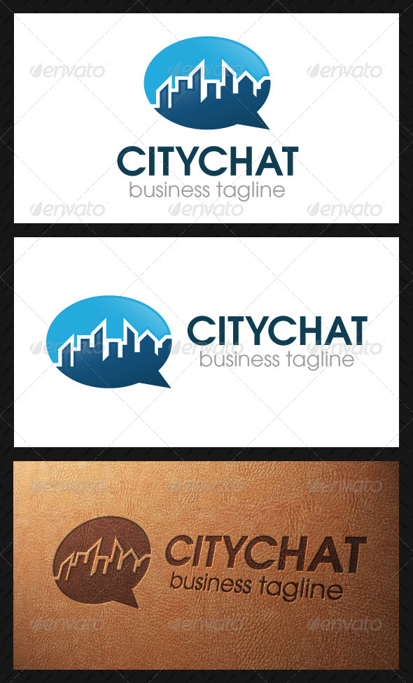 City Chat Logo Template - Symbols Logo Templates