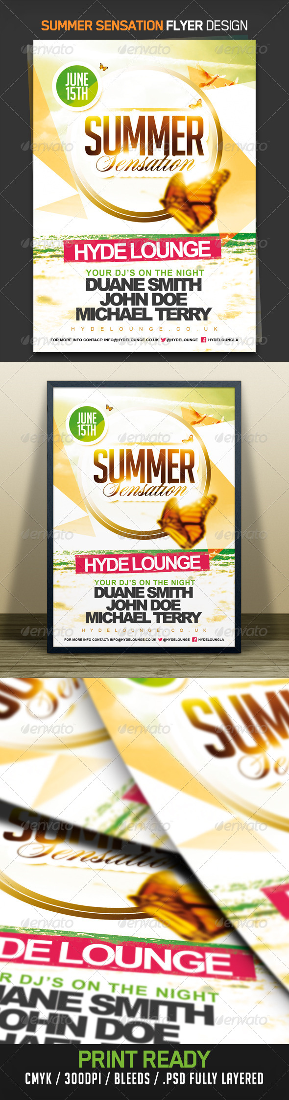 Summer Sensation Flyer - Clubs & Parties Events