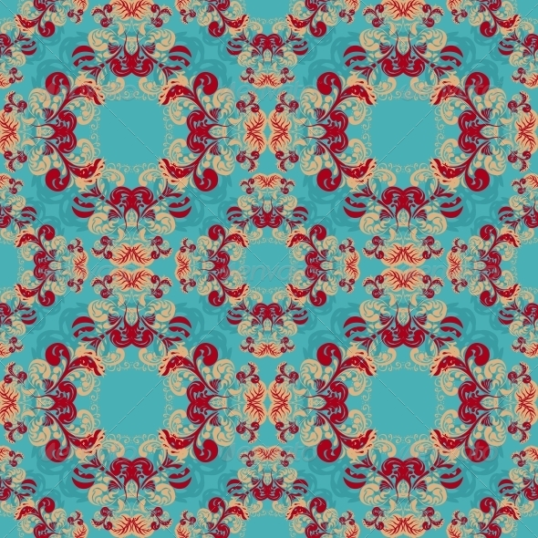 Seamless Vintage Floral Background - Patterns Decorative
