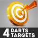 4 Darts Targets - GraphicRiver Item for Sale