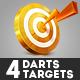 4 Darts Targets - GraphicRiver Item for Sale