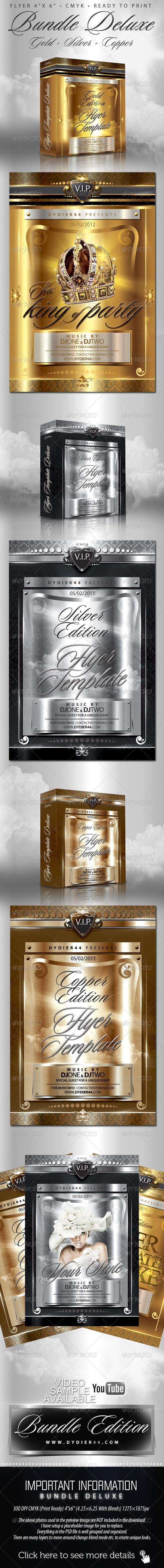 Bundle Deluxe (Flyer Template 4x6)  - Clubs & Parties Events